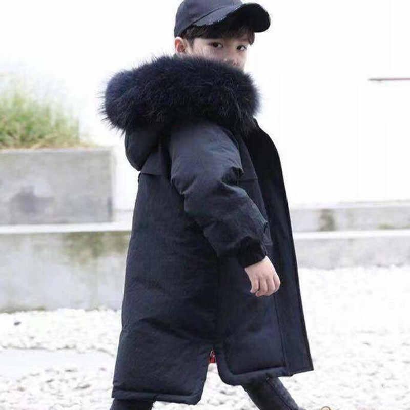 -30 องศาเสื้อผ้าเด็ก 14Y เสื้อผ้าเด็กฤดูหนาวที่อบอุ่นลงฝ้ายแจ็คเก็ต Hooded Coat กันน้ำ Thicken Outerwear เด็ก Parka