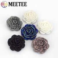 Meetee 5/10/20pc 46mm Kunststoff Harz Strass Tasten Rose Blume Mantel Decor Schnalle DIY Kleid scrapbooking Nähen Zubehör