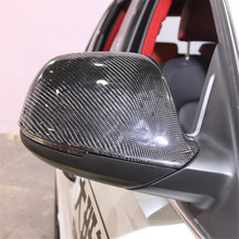 Reemplazo 1:1 protector de carbono para espejo para Audi Q5 SQ5 Q5L Q7 SQ7 de fibra de carbono espejo retrovisor lateral tapas 2009-2019