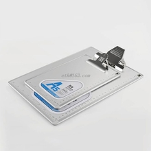A4/A5 Aluminum Alloy Writing Clip Board Antislip File Hardboard Ruler Paper Holder Office School Stationery Supplies