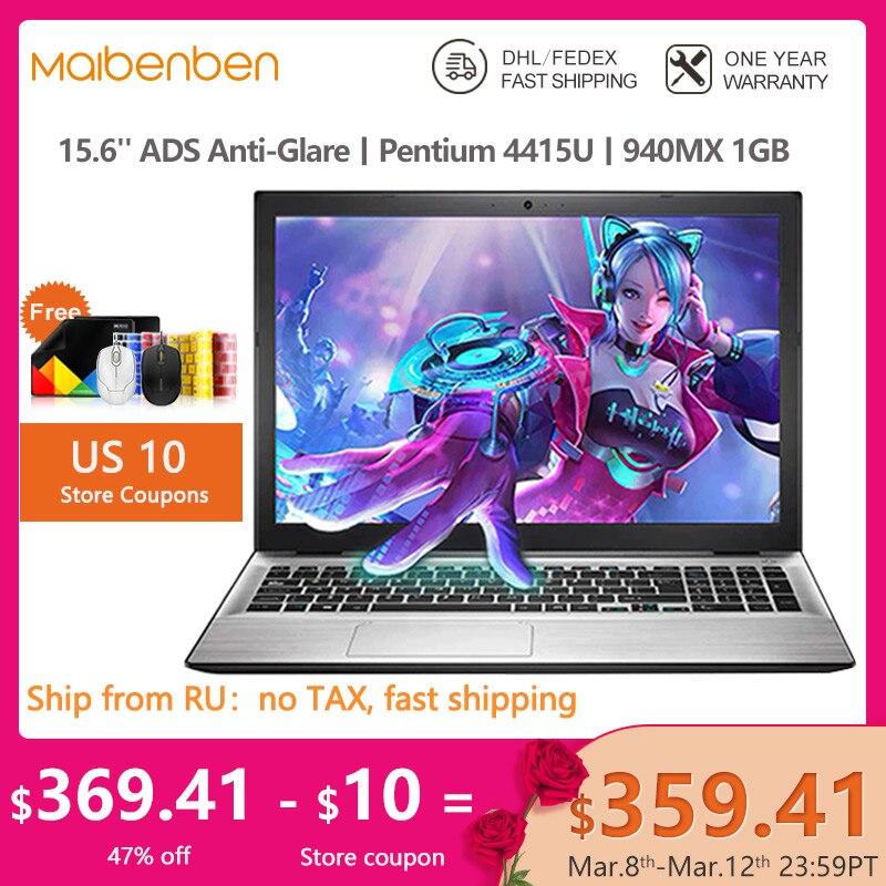 MAIBENBEN ноутбук XiaoMai 5 15,6 дюймов FHD / 4415U / 940MX 1G / DDR4 RAM / Sata SSD HDD / Win 10 игра дома