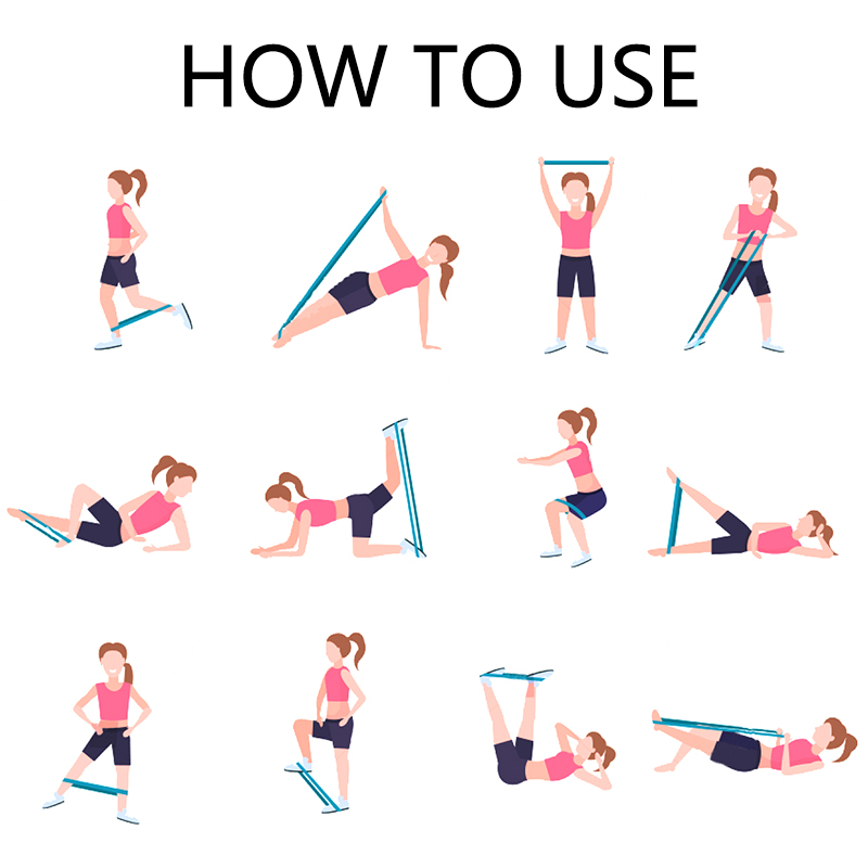 stock-vector-set-sporty-woman-doing-different-exercises-with-resistance-band-girl-training-in-gym-stretching-1360828721 副本副本
