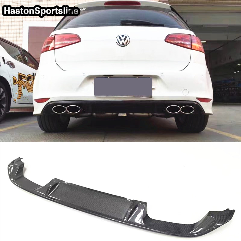 Spoiler middle Valance For VW Scirocco R Rear Bumper Diffuser Skirt