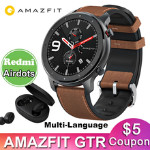 Global Version Amazfit GTR 47mm Smart Watch Huami 5ATM Waterproof Smartwatch 24 Days Battery GPS For Android IOS Multi Language