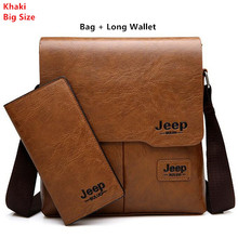 Men Tote Bags Set JEEP BULUO Famous Brand New Fashion Man Leather Messenger Bag Male Cross Body Shoulder Business Bags For Men jeep buluo brand high quality pu leather cross body messenger bag for man ipad famous men shoulder bag casual business tote bags