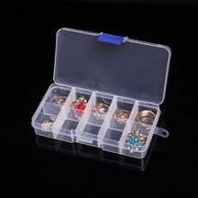 10/15/24/36 Grid Transparent Plastic Storage Box Adjustable Compartment Jewelry Accessories Organizer Case