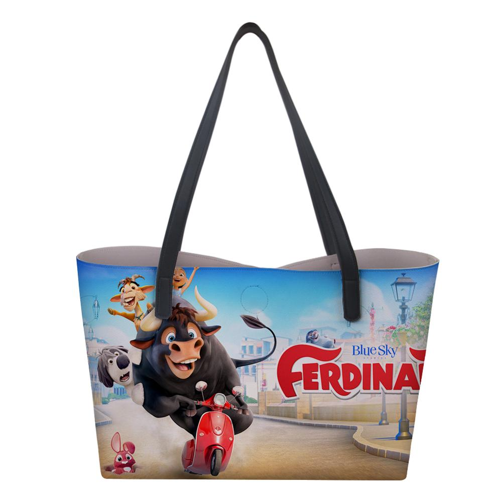 HaoYun Women 39 s PU Totes Bag Large Capacity Shoulder Bag Ferdinand Pattern Ladies Unique Personalized Handbags Trendy For Girls in Top Handle Bags from Luggage amp Bags