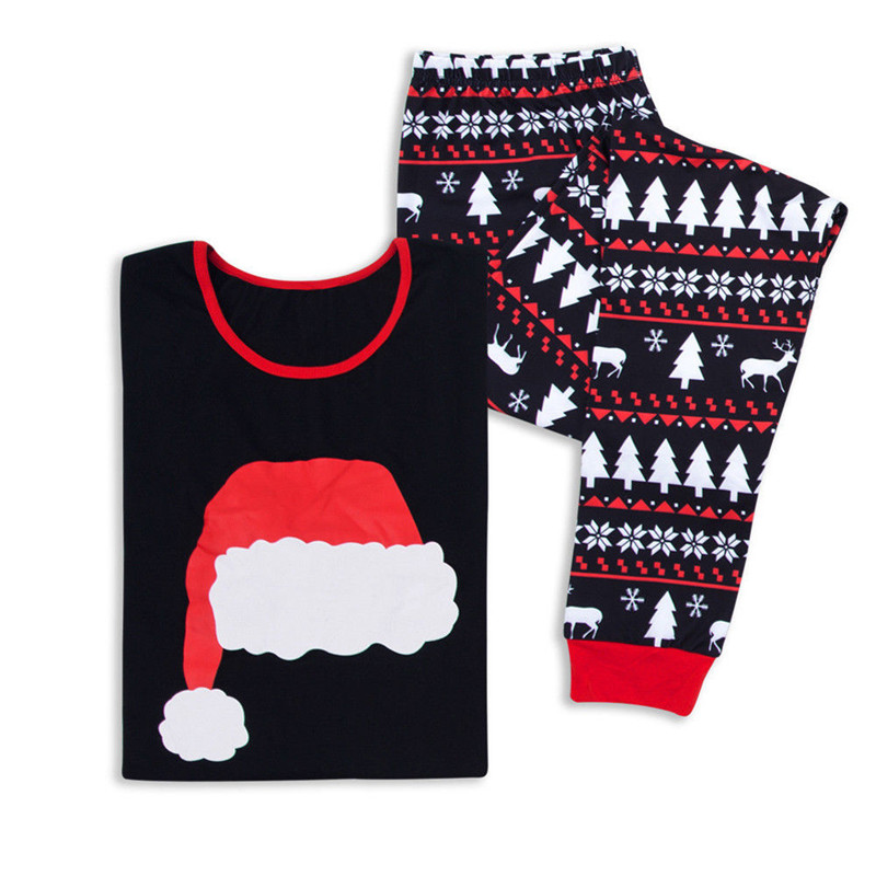 Christmas Family Matching Xmas Pajamas Set Women Kid Dad Adult PJs Fun Sleepwear Nightwear Casual Clothes Outfits