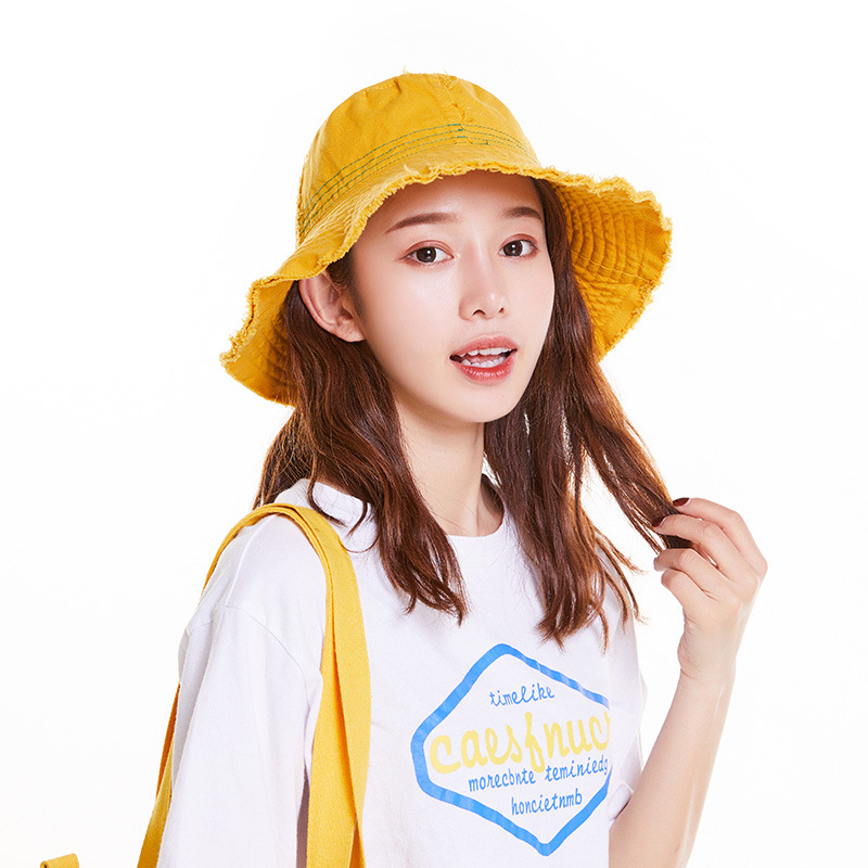 Japanese-style Flash Cowboy Bucket Hat Children Spring And Summer Topee Cool Versatile Bucket Hat Foldable Washing Cloth Cap Men