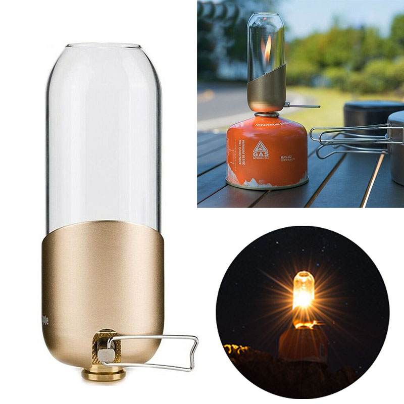 Outdoor Lantern Camping Gas Butane Light Tent Lamp Hiking Torch Gadget Portable