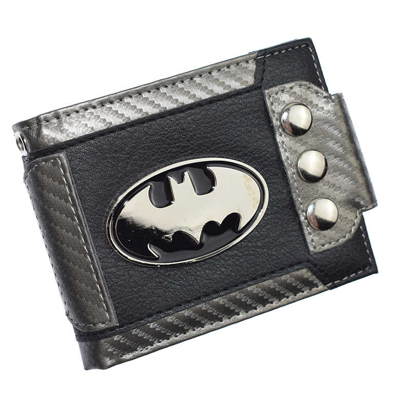 FVIP Cute Design Batman Wallet Short Purse With Sequined  Wallets Coin Purses