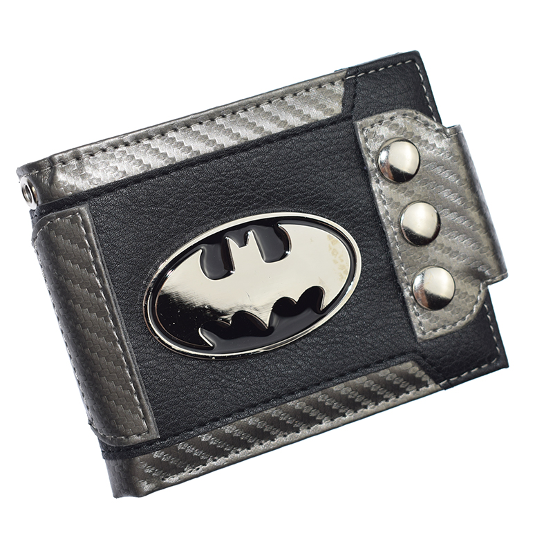 Cute Design Batman Wallet Short Purse With Sequined  Wallets Coin Purses