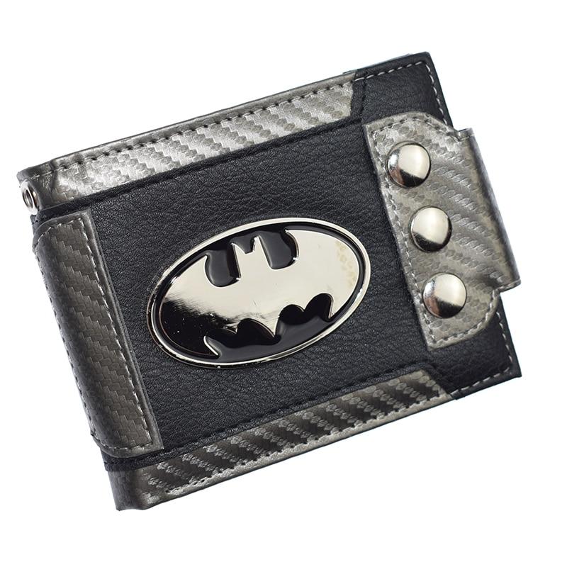 Cute Design Batman Wallet Short Purse With Sequined  Wallets Coin Purses