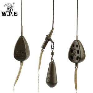 Леска для ловли карпа W.P.E, 2 шт./компл., 85 г/98 г/116 г, свинцовая леска, Европейский карп, крючок, рыболовная группа, тефлоновый крючок, рыболовная ...