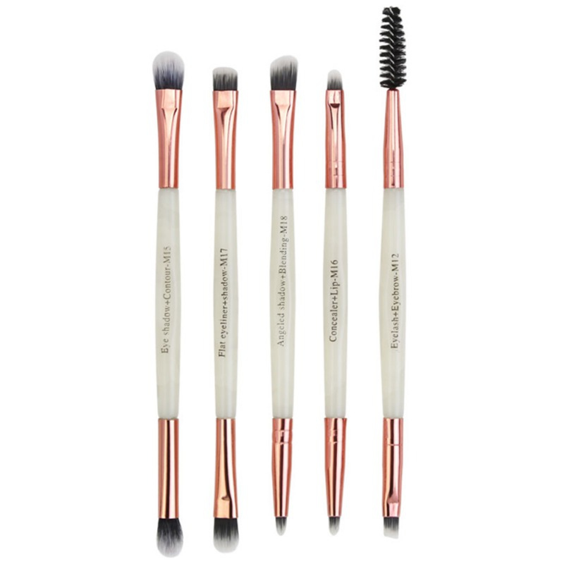 5pcs/Set Makeup Brushes Eye Eyeshadow Pincel Maquiagem Maquiagem Profissional Completa Smudge Double-head Pinceaux Maquillage