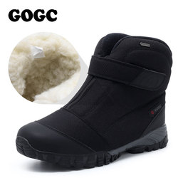 Gogc botas de inverno homens quentes sapatos de inverno sapatos de inverno para homem tênis para pele masculina botas de neve quentes sapatos masculinos g9907