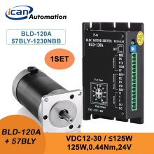 ICAN Electric Motor Bldc 125W 24v 3000rpm motor brushless dc motor encoder and Driver
