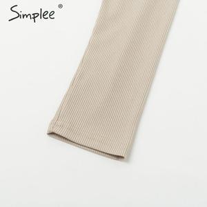 Image 5 - Simplee אלגנטי נשים סרוג סוודר שמלת אונליין שרוול ארוך רצועת חורף שמלת מוצק o צוואר נדן סתיו גבירותיי midi שמלה