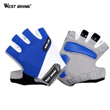 WEST BIKING Bicycle Bike Cycling Gloves For MTB Road Mountain Glove Cycling Bicycle Goods Bike Shock Gloves Sport Half Finger mtb bicycle gloves hand protection mittens cycling bike half finger gloves for bicycle accessories sports gloves