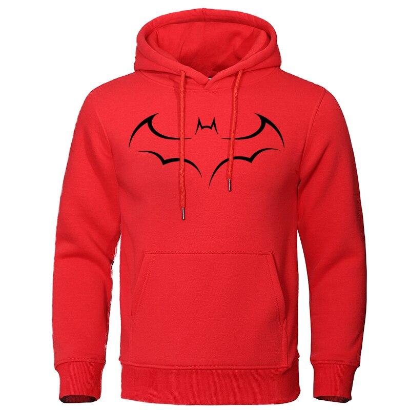 2019 Autumn Winter Men's Hoodies Cotton Fashion Tops Batman Print Sweatshirts Casual Male Clothing Streetwear Quality Pullovers