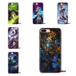 Soft Cover For iPhone XS Max XR X 4 4S 5 5S 5C SE 6 6S 7 8 Plus Samsung Galaxy J1 J3 J5 J7 A3 A5 Hearthstone Naxxramus Hero Game(China)