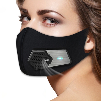 Smart Dustproof And Anti-Fog Masks Pm2.5 Breathing Valve Kn95 Electric Mask 3D Silicone Seal Elastic Antibacterial Cloth Mask