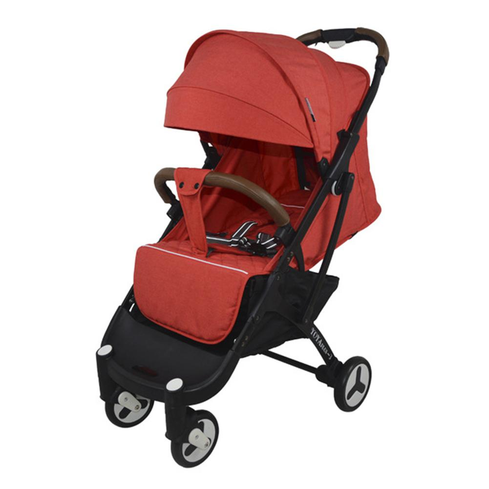 Kidlove Luxury Baby Stroller One-button Foldable Stroller Newborn High Landscape Stroller Detachable Seat One-Button Folding