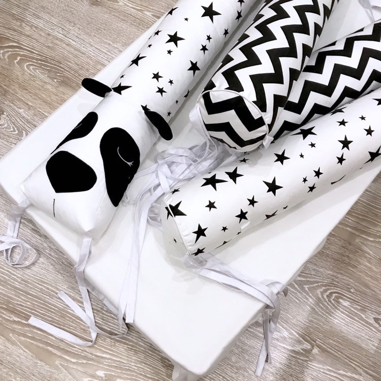 Baby Bed Bumper Animal Plush Toys Long Pillows Infant Cushion Pads Baby Crib Liner Room Decoration YBD008