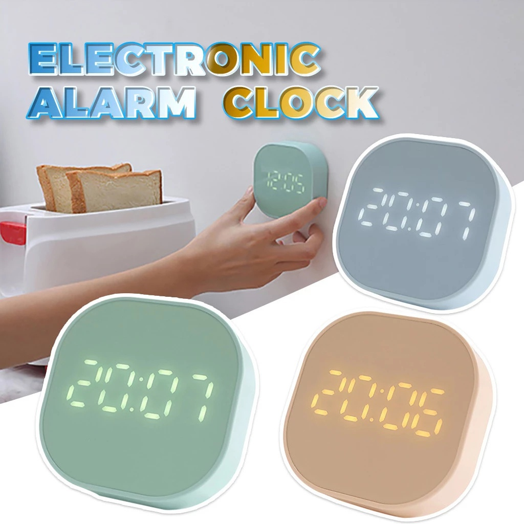 Square Small Alarm Clock Luminous Mute Led Multifunctional Digital Clock Light Electronic Desktop Digital Table Clocks Alarm Clocks Aliexpress