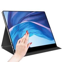 Yeni taşınabilir monitör 15.6 inç dokunmatik ekran 1920*1080 full HD tip-c USB genişletmek için cep PC dizüstü oyun ikinci ekran