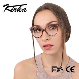 Image 1 - Kirka Women Optical Glasses Frame Cat Eye Eyeglasses Frame Reading Glasses Eyewear Accessories Women Eyewear Frame Myopia