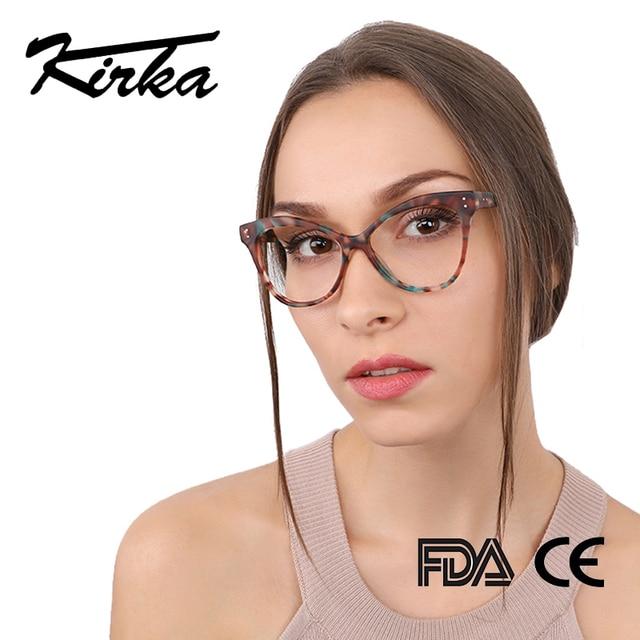 Kirka Women Optical Glasses Frame Cat Eye Eyeglasses Frame Reading Glasses Eyewear Accessories Women Eyewear Frame Myopia
