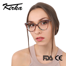 Kirka النساء النظارات البصرية إطار القط العين النظارات إطار نظارات للقراءة نظارات اكسسوارات النساء إطار نظارات شمسية قصر النظر