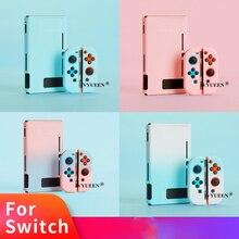 IVYUEEN na przełącznik do Nintendo NS NX konsola twarde etui ochronne powłoki dla Nintendo przełącznik Joy Con radość Con kolorowe tylna pokrywa