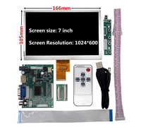 7 pulgadas 1024*600 pantalla TFT LCD Monitor conductor junta de Control Compatible con HDMI VGA AV para Lattepanda Raspberry Pi Banana Pi