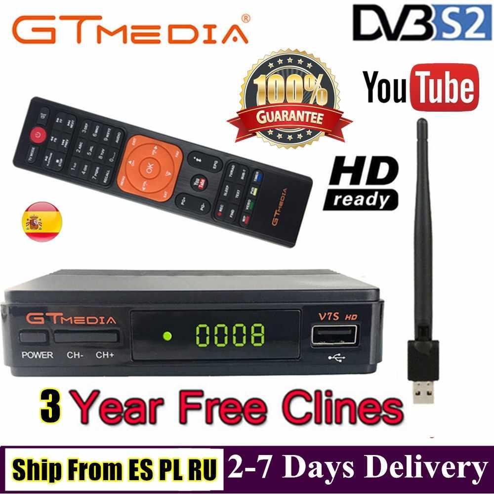 V7S HD DVB-S2 N/S ヨーロッパアメリカのデジタル衛星放送受信機 Tv チューナーサポート Wifi HD Youtube IKS CS Cccam newcam 電源 Vu Biss