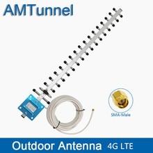 WIFI anten 4G LTE anten SMA erkek WIFI yönlü anten 20dBi 4G yönlendirici anten 2500 2700Mhz 10m veya 5m yönlendiriciler için
