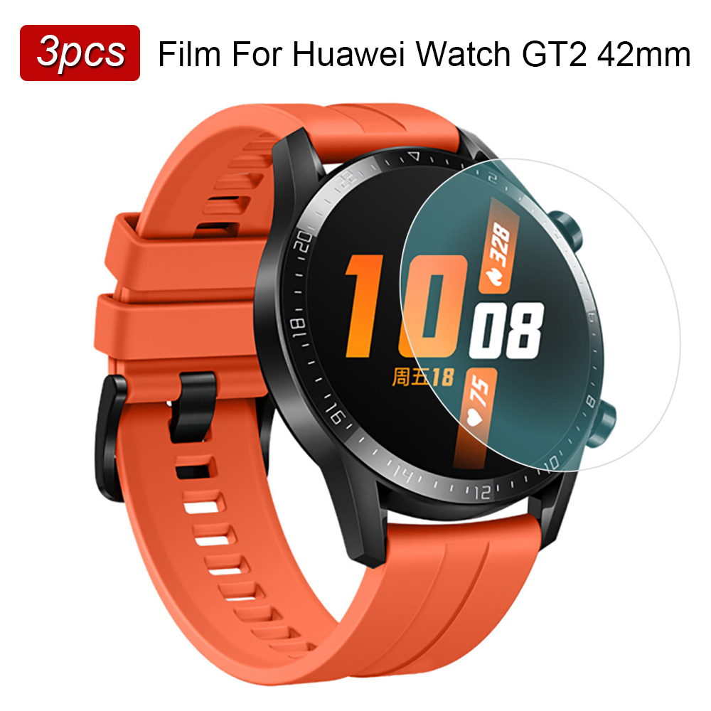 3pcs Explosion-proof Film For Huawei Watch GT 2 42mm GT2 Screen Protector TPU Bubble Free Anti Scratch Ultra Thin