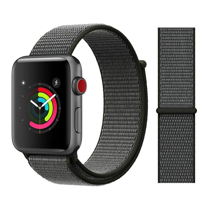 Для наручных часов Apple Watch, версии 3/2/1 38 мм 42 мм нейлон мягкий дышащий нейлон для наручных часов iWatch, сменный ремешок спортивный бесшовный series4/5 40 мм 44 мм - Цвет ремешка: Color8 Dark Olive