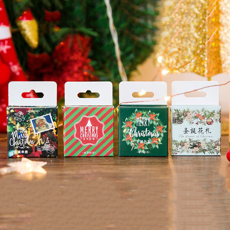 46Pcs Cute Christmas Stickers Kawaii Santa Claus Stationery Stickers Paper Adhesive Sticker For Kids DIY Diary Albums Supplies