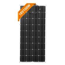 Dokio 18V монокристаллическая 100W Гибкая солнечная панель для автомобиля/лодки/дома Солнечная зарядка 12V Водонепроницаемая солнечная панель Китай