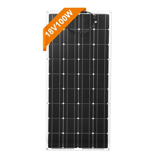 Dokio 18V Monocrystalline 100W 유연한 태양 전지 패널 자동차/보트/홈 태양 충전 12V 방수 태양 전지 패널 중국