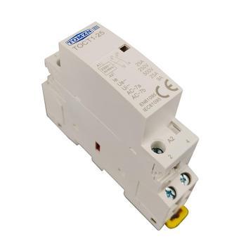 TOCT1 2P 25A 220 V/230 V 50/60 HZ, carril Din hogar ac contactor Modular 2NO 2NC o 1NO 1NC