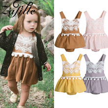 baby girl dress newborn infant toddler clothes cotton sleeveless bow birthday party princess dress baby girl clothes ZAFILLE Baby Girl Clothes Summer Newborn Infant Girls Dress Cotton Baby Romper Toddler Kids Clothes Sleeveless Baby Jumpsuits