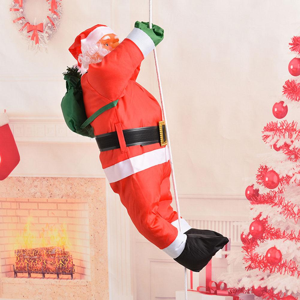 Climbing Santa Claus on Rope Ladder Hanging Christmas Tree House Decorations
