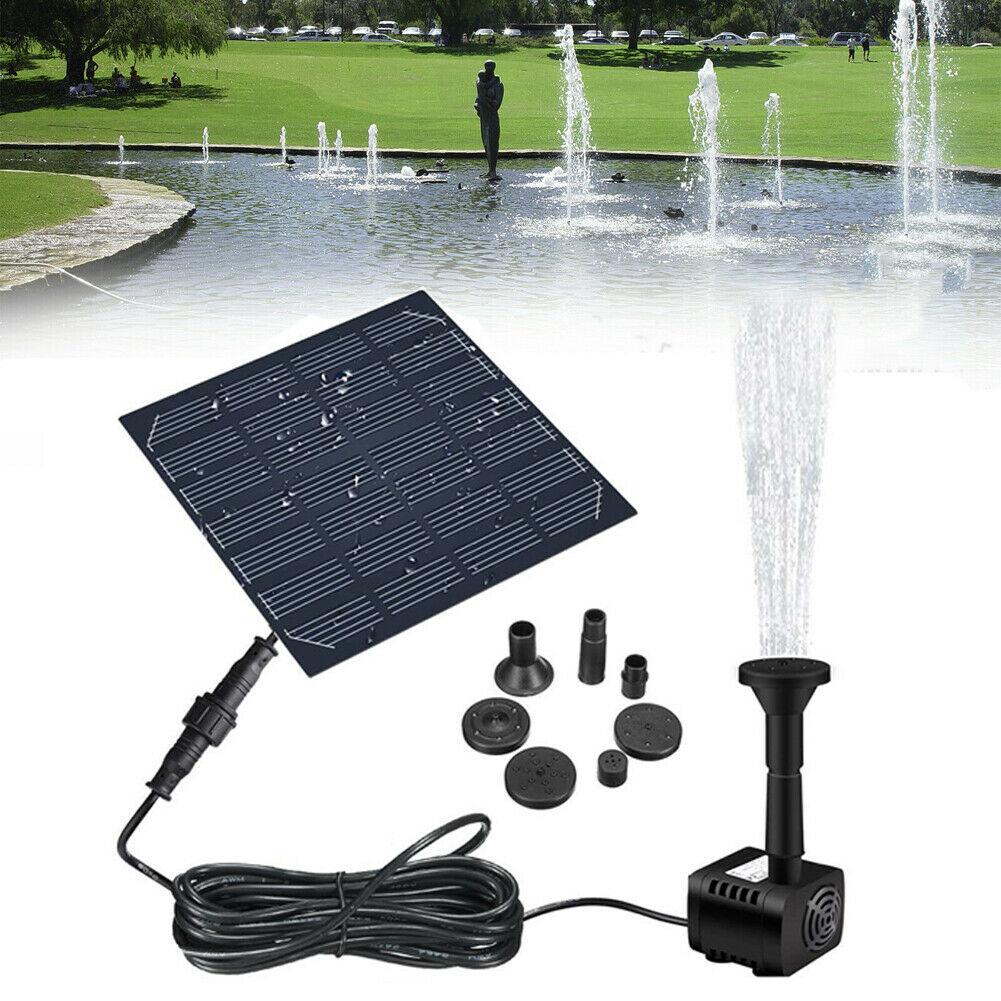 Водяной фонтан на солнечной батарее, садовый распылитель воды для пруда с насосом и 3 насадками
