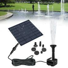 Painel solar alimentado fonte de água piscina lagoa jardim pulverizador de aspersão de água com bomba de água & 3 cabeças de pulverização