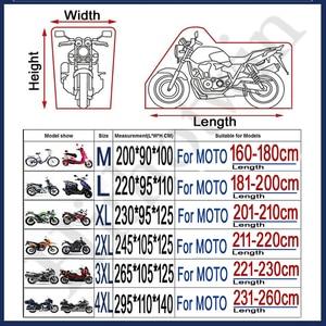Image 3 - オートバイカバーユニバーサル屋外 uv プロテクタースクーターオールシーズン防水バイク雨防塵カバー ml xl 2XL 3XL 4XL 190 t