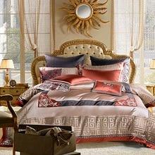 4/6/10Pcs Premium Jacquard Luxury Duvet cover set Smooth Bedding Set Queen King size Cotton Bed sheet Bedspread Pillow shams