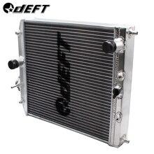 DEFT автоматический автомобильный радиатор Полный алюминиевый гоночный радиатор для Honda Civic EK EG Del Sol руководство 92-00 D15 D16 28 мм 32 мм Калибр